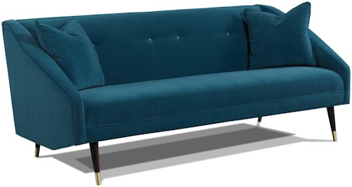 Precedent 3234 Finnick Retro Sofa with Conical Legs and Metal Ferrules
