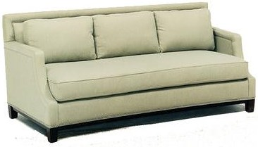 Precedent Accent Sofas Casual Stationary Sofa with Nailhead Trim