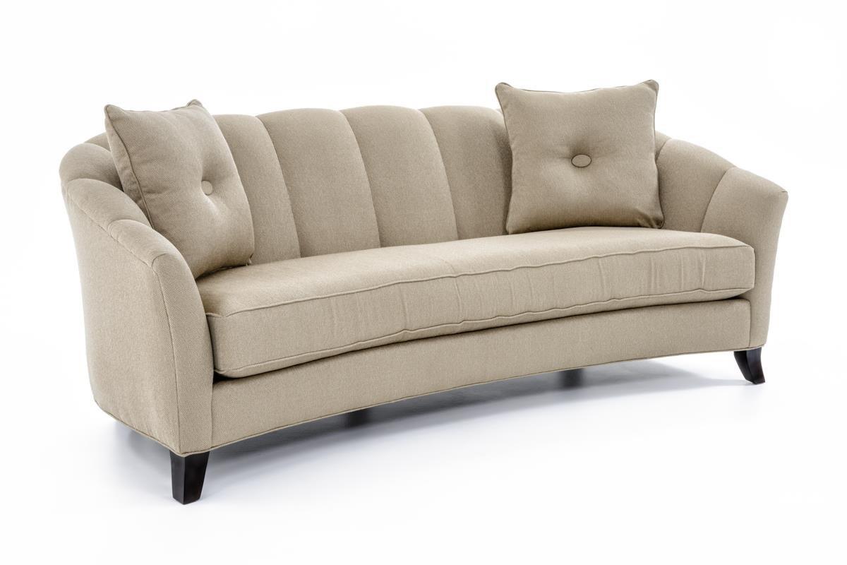 Perfect Precedent Accent Sofas Transitional Channel Back Sofa   Baeru0027s Furniture    Sofa