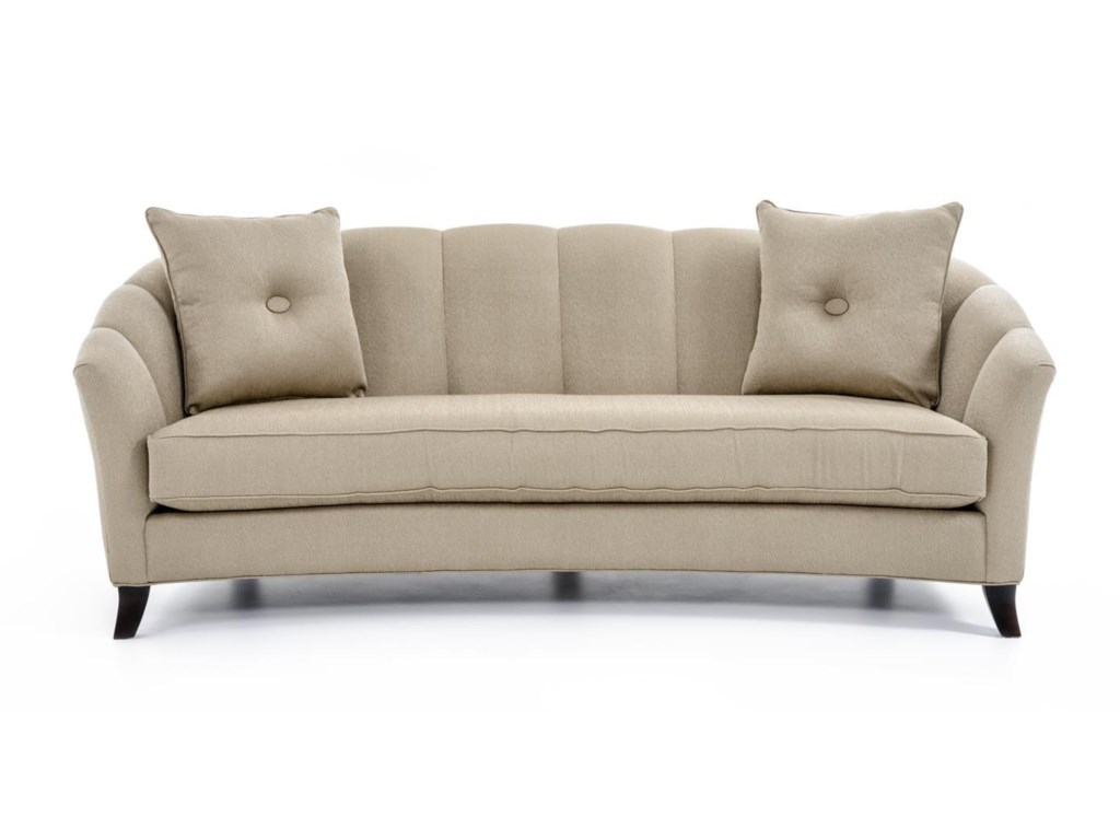 Accent Sofa Precedent Accent Sofas Transitional Channel Back Sofa Baer S Thesofa