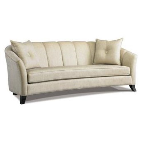 Precedent Accent Sofas Transitional Channel Back Sofa