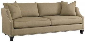 Precedent Accent Sofas Transitional Sofa with Sloping Track Arms