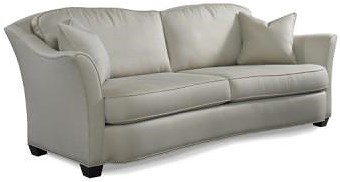 Precedent Accent Sofas Contemporary Sofa with Flared Arms
