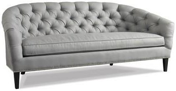 Precedent Accent Sofas Contemporary Tufted Back Sofa