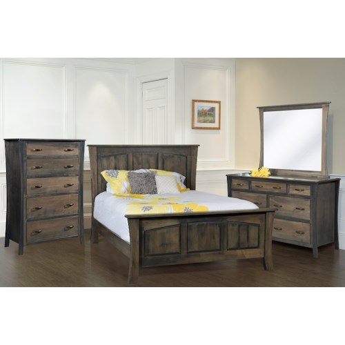 Rotmans Amish Greenbrier King Bedroom Group