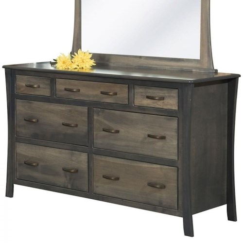Rotmans Amish Greenbrier Dresser with 7 Drawers