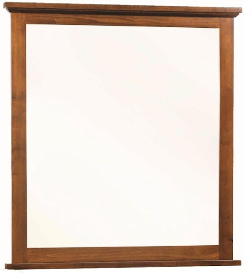 Rotmans Amish Huntington Shaker Portrait Mirror Framed in Solid Wood