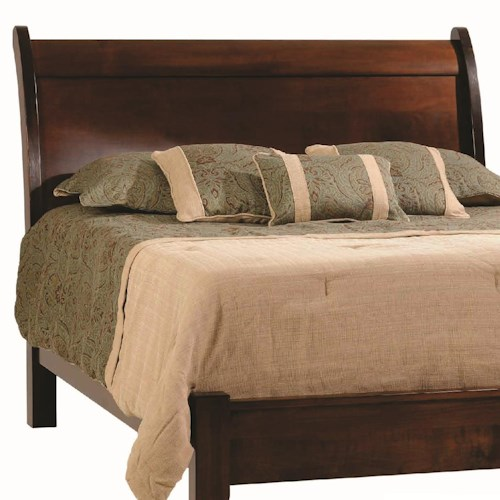 Rotmans Amish Huntington Shaker Queen Solid Wood Sleigh Headboard