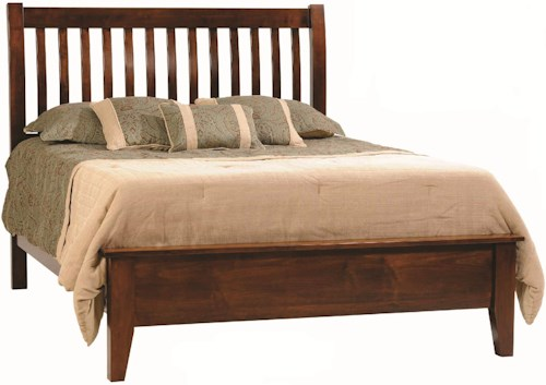 Rotmans Amish Huntington Shaker Full Shaker-Style Solid Wood Bed with Slatted Headboard