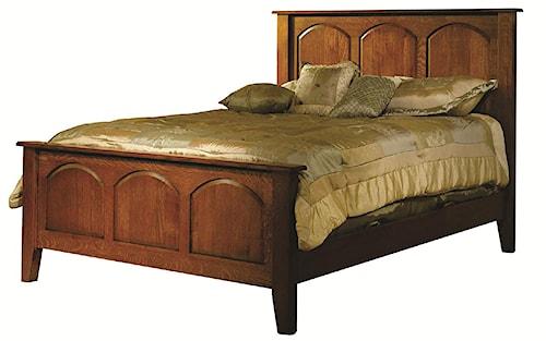 Rotmans Amish Huntington Shaker King Solid Wood Carlisle Shaker Bed