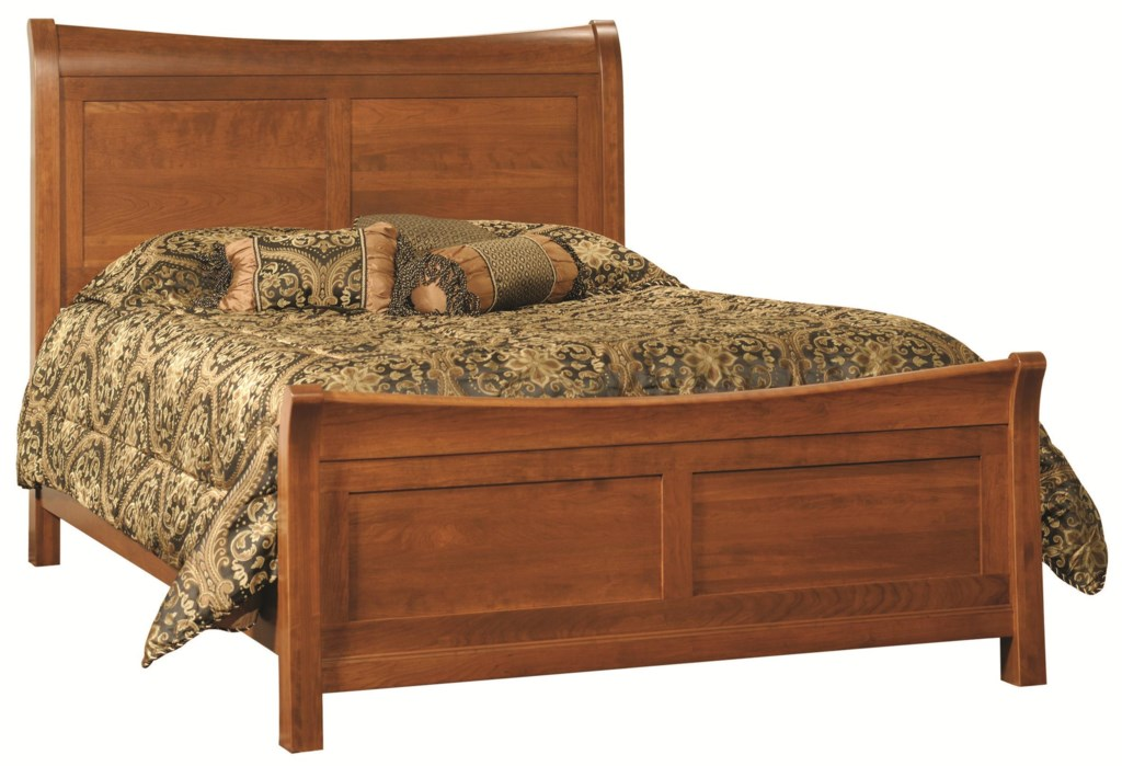 Rotmans Amish Princeton Queen Solid Wood Sleigh Bed With Gently