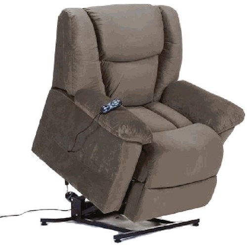Prime Resources International 095-003 Casual Power Lift Recliner with Pillow Arms and Lumbar Support