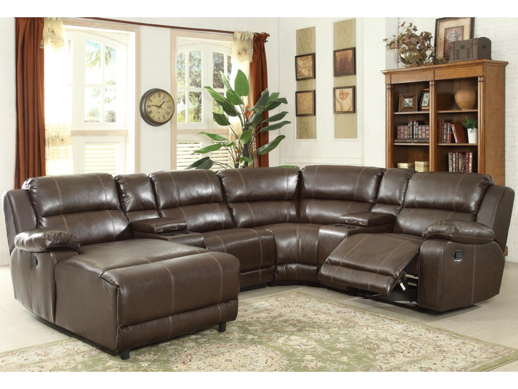 Prime Resources International 1487Reclining Sectional Sofa
