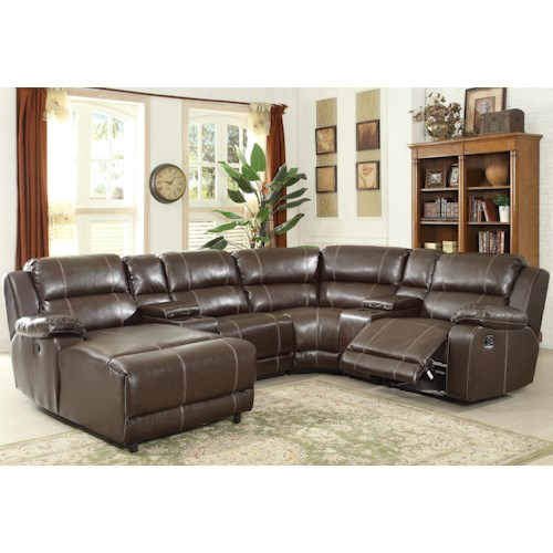 Prime Resources International 1487 Reclining Sectional Sofa