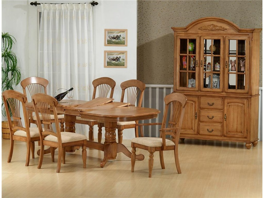 Primo International 1855Table With 4 Side Chairs and 2 Arm Chairs