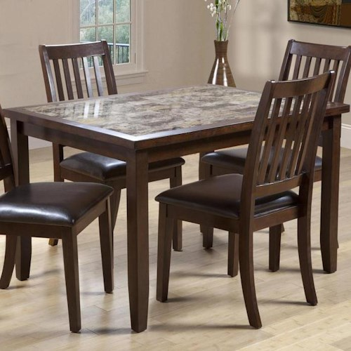 Marble Top Dining Room Tables: Primo International 2096 Rectangular Dining Table With
