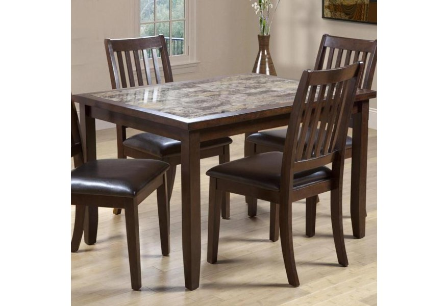 Primo International 2096 Rectangular Dining Table With Faux Marble Top Bullard Furniture Kitchen Table