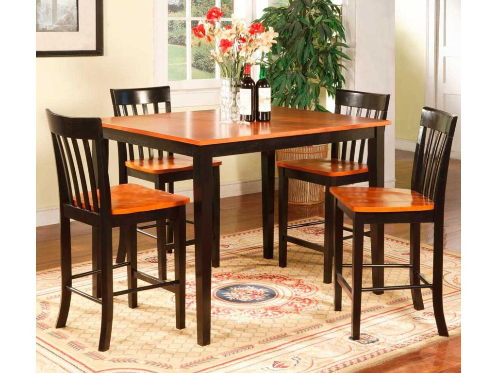 Primo International 2550Two Tone Pub Table & Chairs