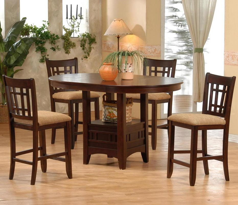 Primo International 4560Counter Height Table And Pub Chair Set ...
