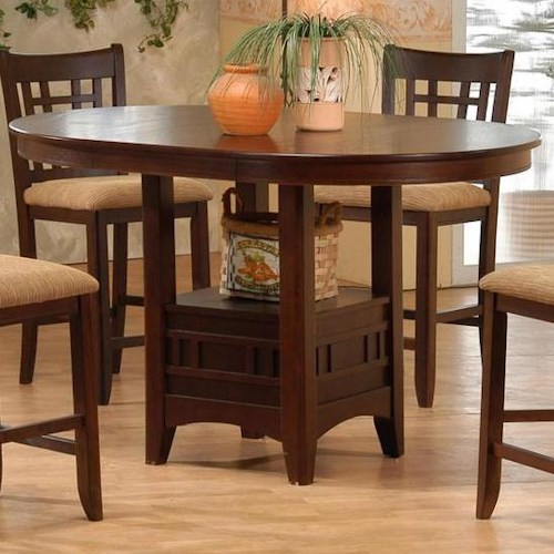 Primo International 4560 Counter Height Oval Pub Table