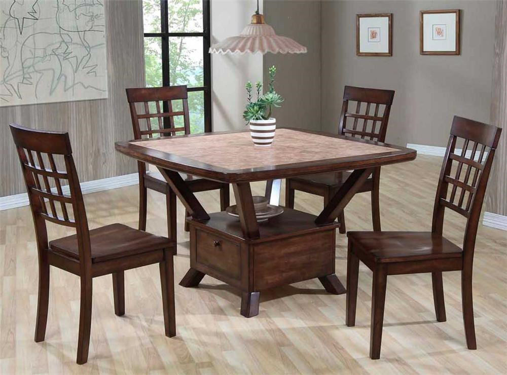 Primo International 8189Tile Top Table & Chair Set