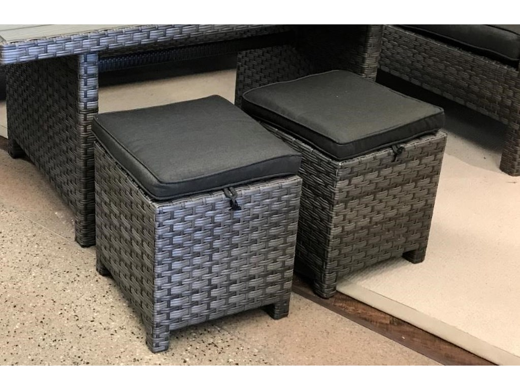 Primo International ArcadiaOutdoor Wicker and Aluminum Ottoman