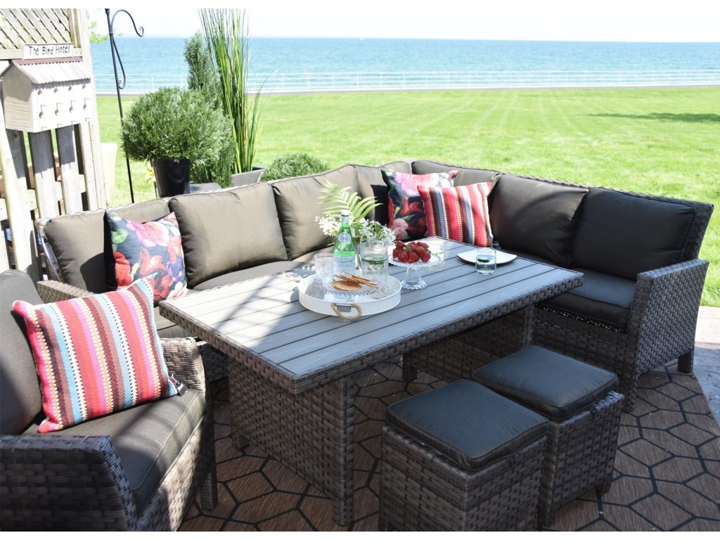 Primo International ArcadiaWicker and Aluminum Outdoor Sectional