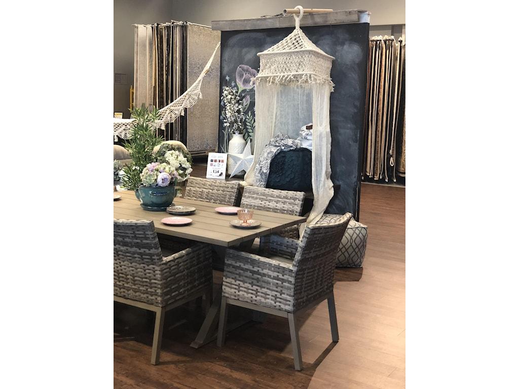 Primo International BelvedereWicker Outdoor Dining Arm Chair