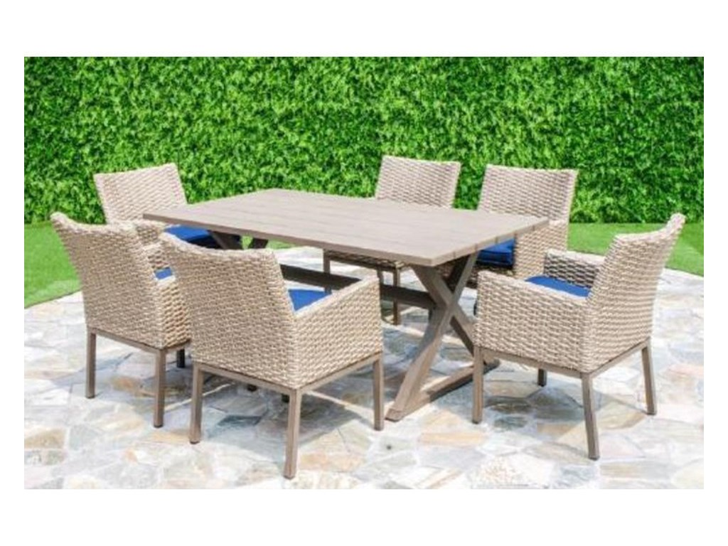 Primo International BelvedereOutdoor Table and 6 Chair Set