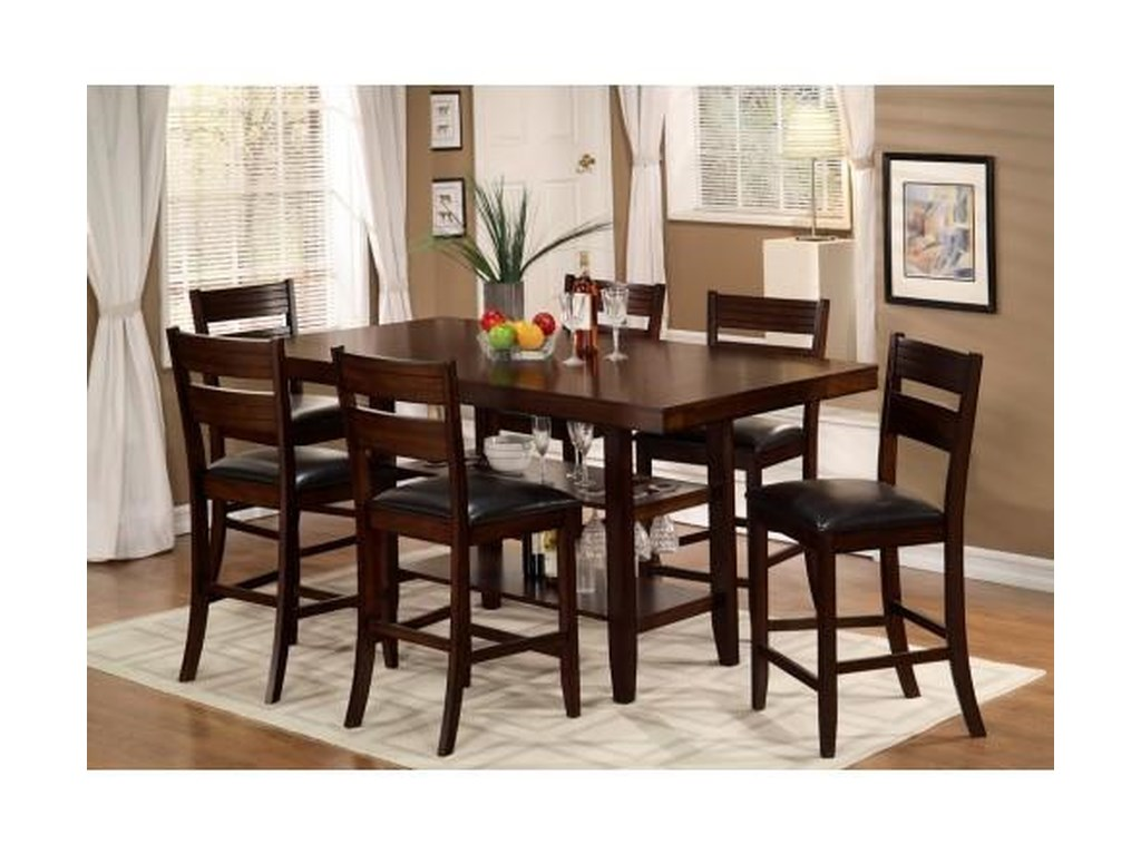 Urban Styles Cascade7 Piece Counter High Dining Set