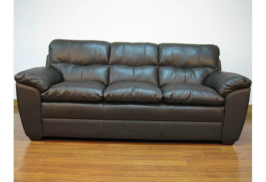 Fulani Leather Upholstered Sofa
