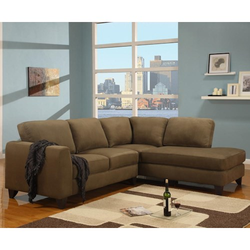 Primo International Gemma Sectional Sofa With Chaise