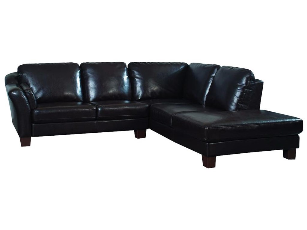 Primo International Holliday Casual L Shaped Leather Sectional ...