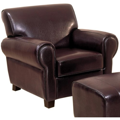 Primo International Mahal Upholstered Leather Chair