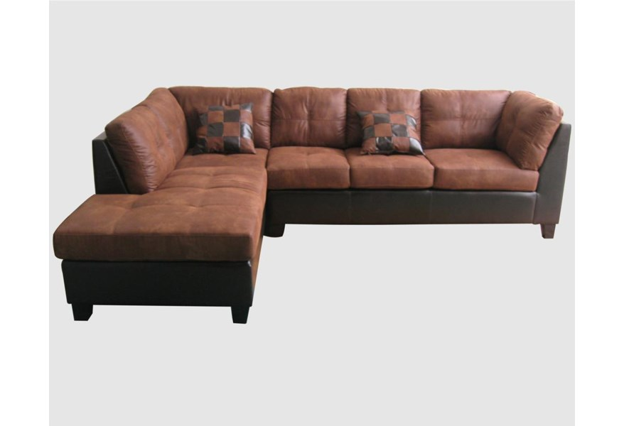 Pinot Sectional Sofa With Fabric And Pu