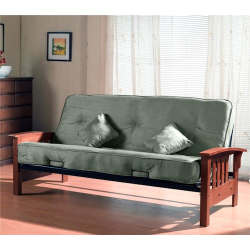 Primo International Tulsa Sleeper Futon With Oak Arms