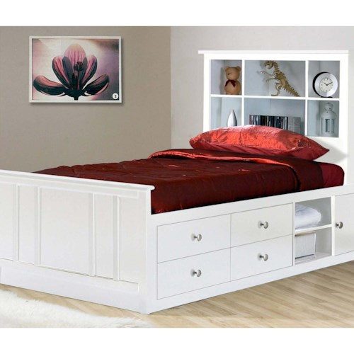 Private Reserve Millie (white) Twin Captain's Bed