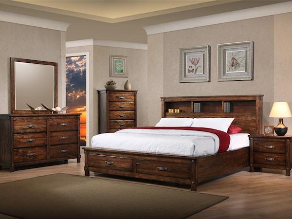 5 Piece Queen Storage Bedroom Group