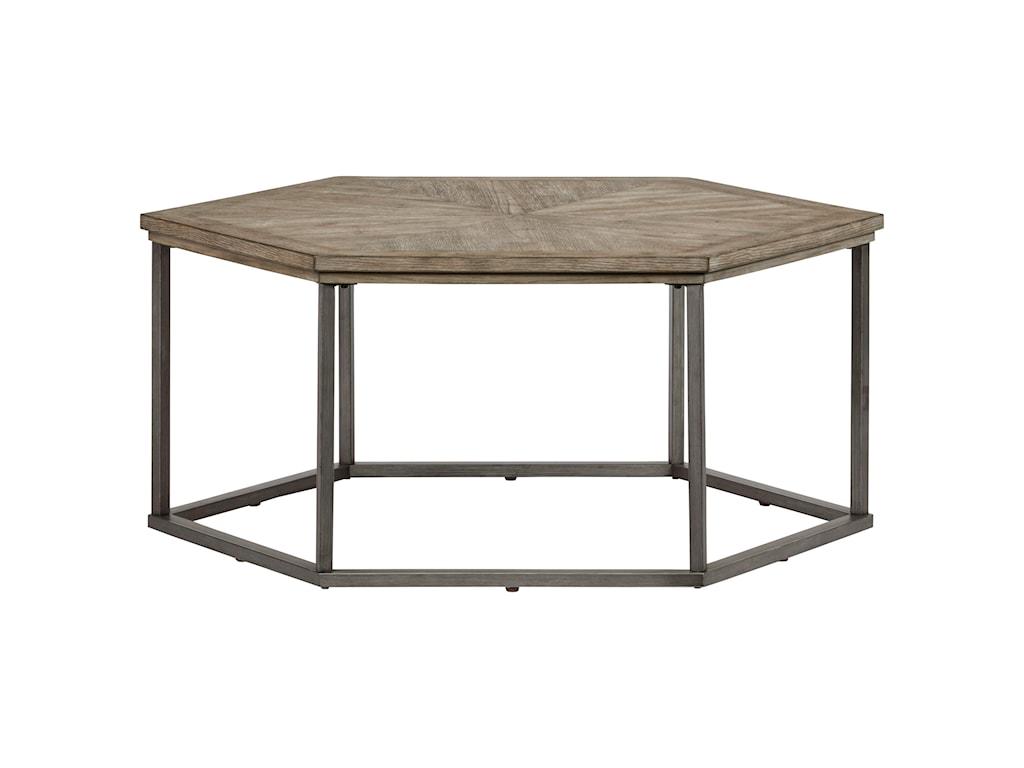 Progressive Furniture Adison CoveHexagon Cocktail Table