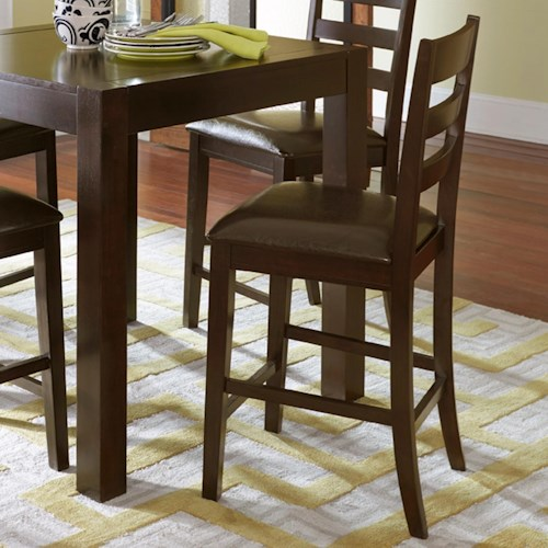 Progressive Furniture Amini Ladder Counter Chair with Upholstered Seat