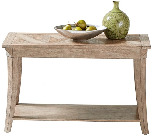 Progressive Furniture Appeal II Sofa/Console Table with Parquet Table Top