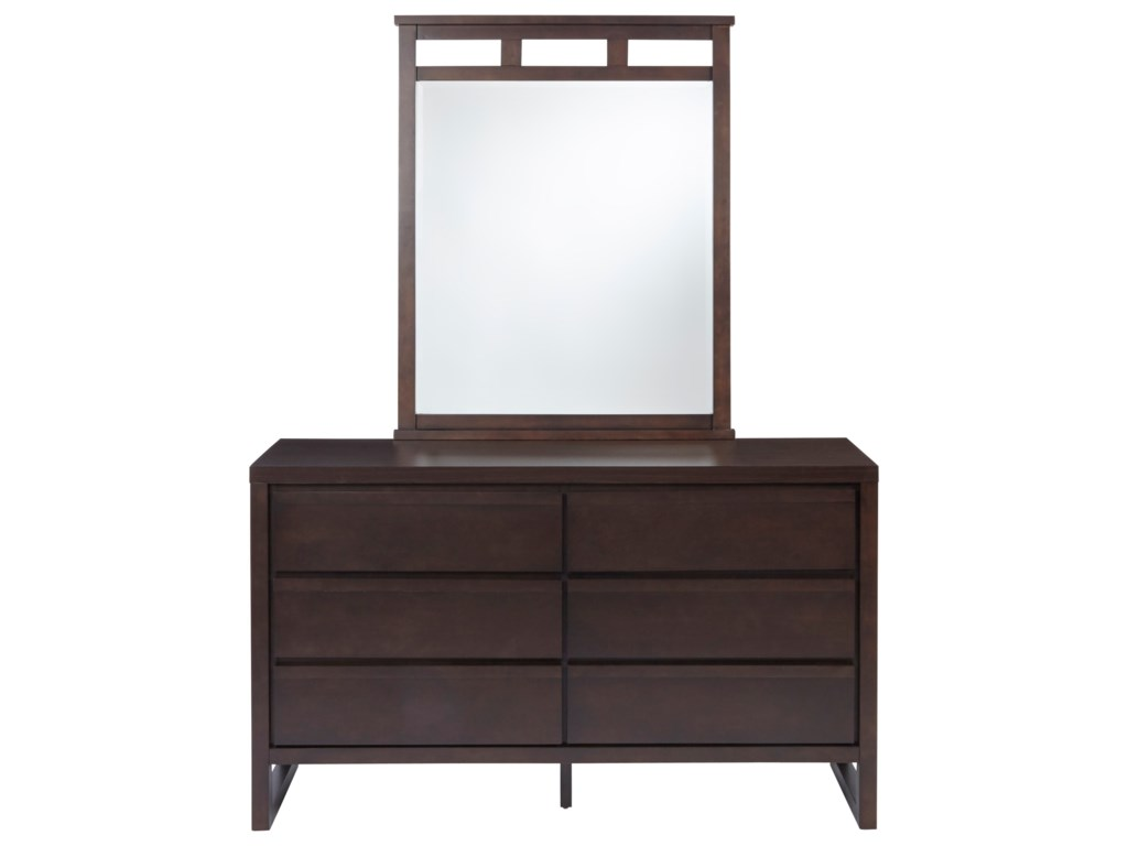 Progressive Furniture AthenaDrawer Dresser and Mirror