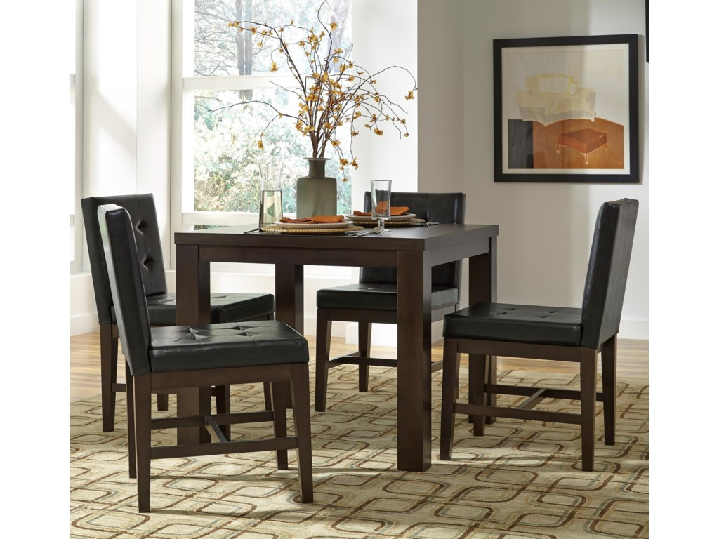 Progressive Furniture Athena5-Piece Square Dining Table Set