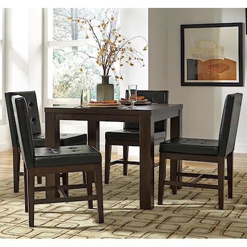 12 Piece Dining Room Set: Progressive Furniture Athena 5-Piece Square Dining Table