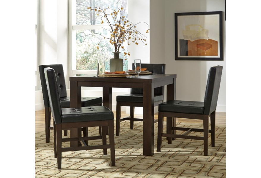 Progressive Furniture Athena 5 Piece Square Dining Table Set Simply Home By Lindy S Dining 5 Piece Sets