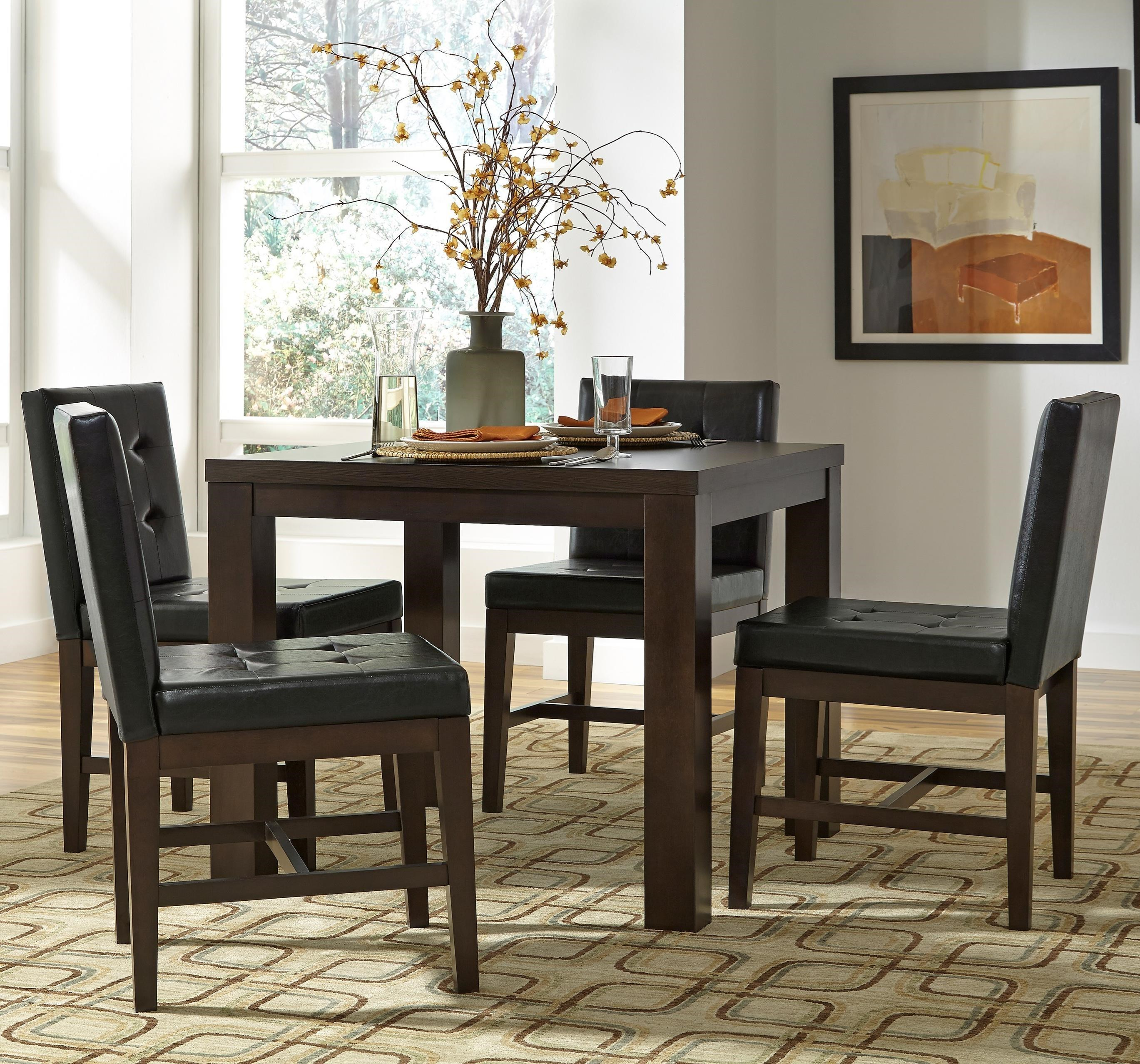 Progressive Furniture Athena 5 Piece Square Dining Table Set