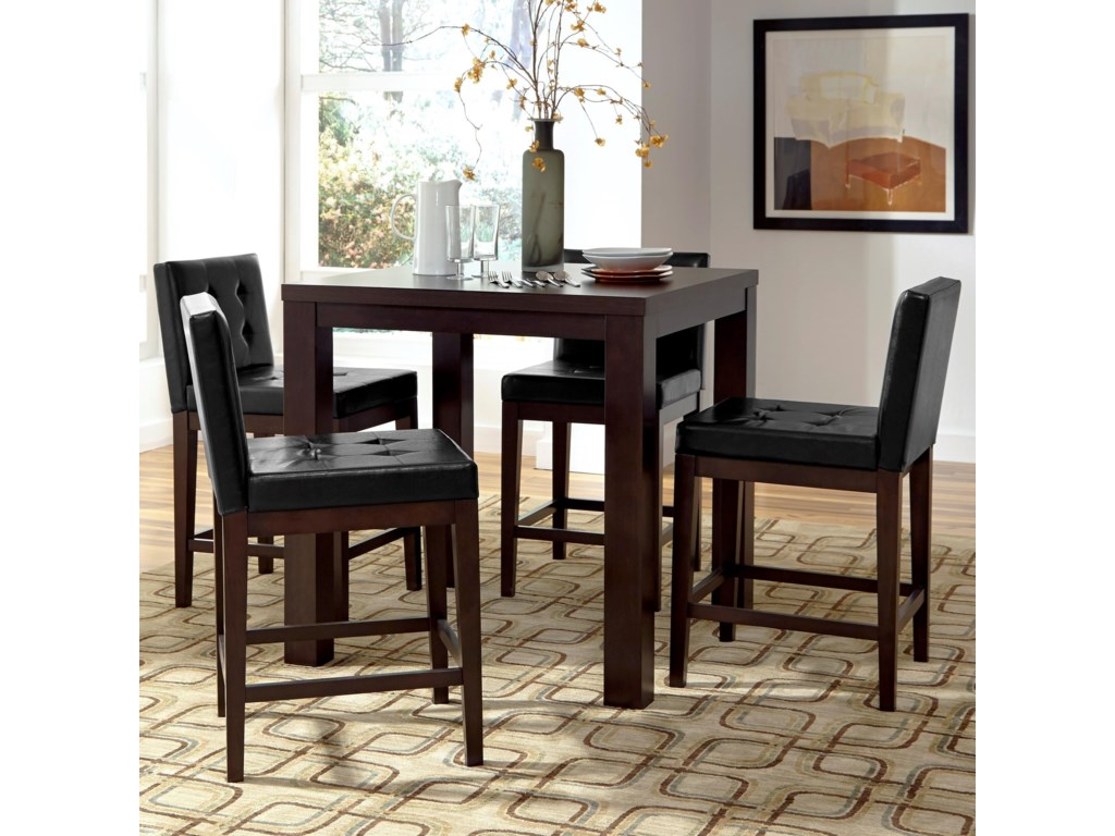 Progressive Furniture Athena5-Piece Counter Square Dining Table Set