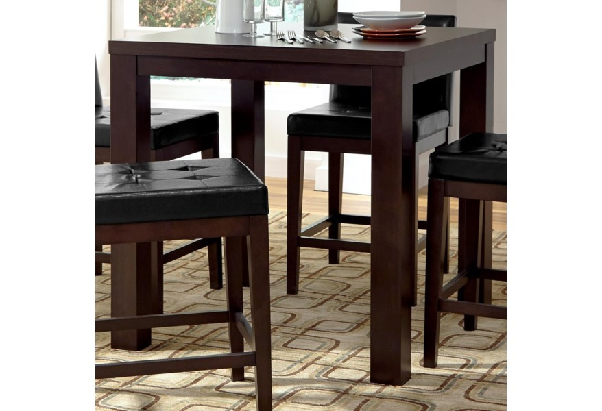 Progressive Furniture Athena Contemporary Square Counter Height Dining Table Lindy S Furniture Company Pub Tables