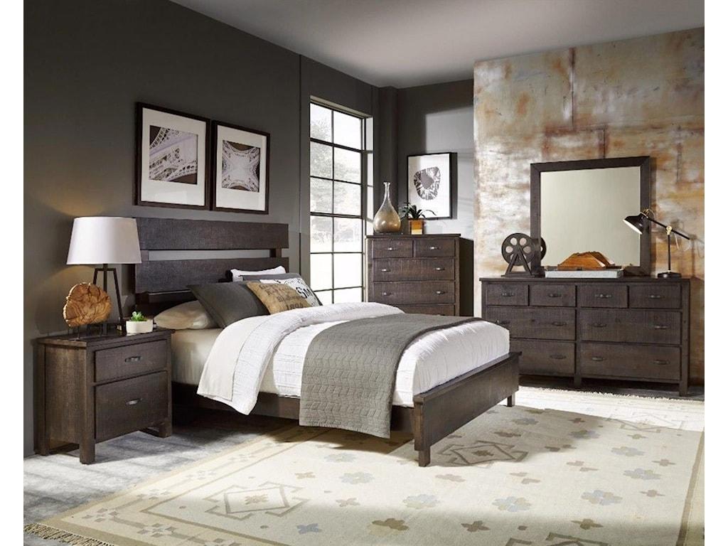 Monday Company ProgressiveKing Bed, Dresser, Mirror, and Nightstand