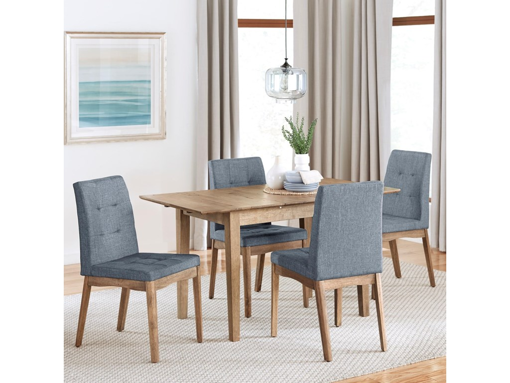 Progressive Furniture Barcelona5-Piece Butterfly Dining Table Set